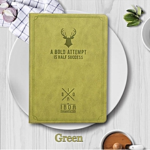 Vintage Deer Canvas Flip Pouch Casing Case Cover For Ipad 9.7 2017 / Ipad 9.7 2018 / Ipad Air 2 HSL-G