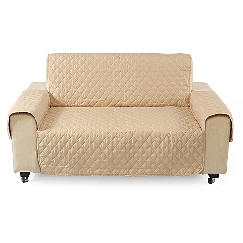 Couch Sofa Cover Removable Quilted Slipcover Pet Protector W Strap 1 2 3 Seater