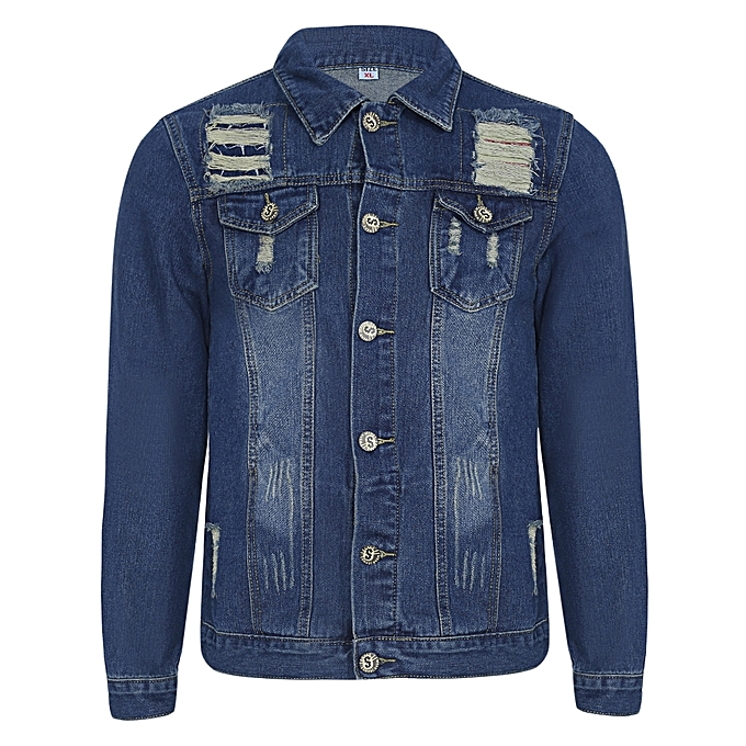 Best Motorcycle Jacket >> Buy Fashion Men Slim Fit Denim Jacket - Blue @ Best Price Online - Jumia Kenya