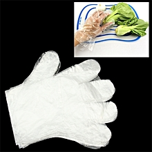 Transparent Disposable Gloves One-off Gloves For Kitchen Household Use(transparent)