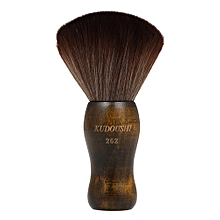 KUDOUSHI Largr Hair Cutting Neck Duster Brush Professional Barber Natural Fiber Wooden Handle Cutting Kits Salon Hair Removal Brush Broken Hairbrush