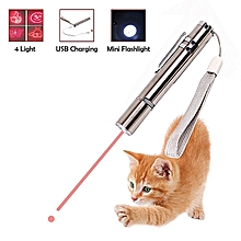 2 In 1 Multi Function Crazy Chase Cat Chaser Toys  Mini Flashlight -Pet Interactive LED Light - Command Light Training Tools - USB Charging