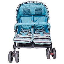 Twin Stroller In Blue