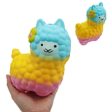 Colorful Alpacas Squishy 18*14CM Slow Rising Collection Gift Soft Toy-