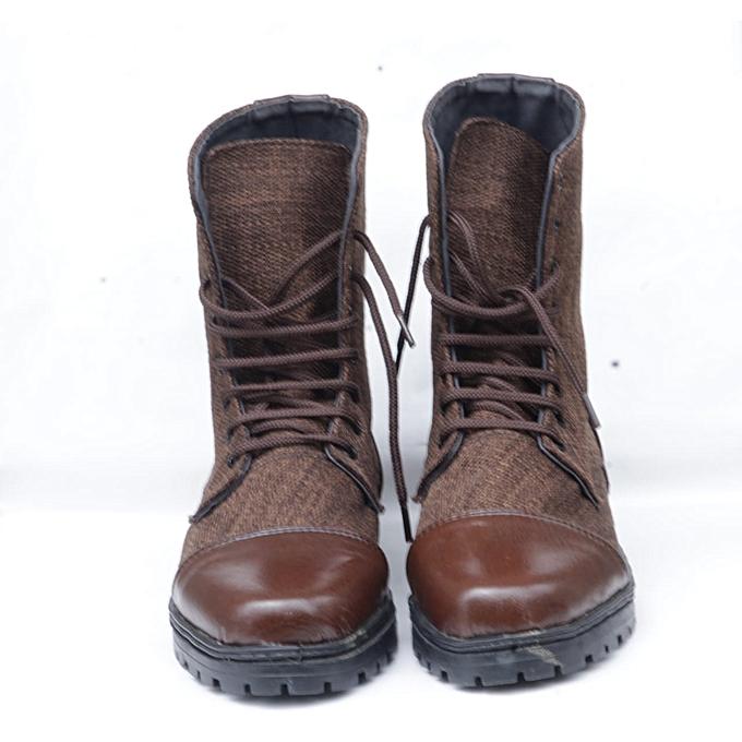 Casual Mid Calf Viking Boots - Brown