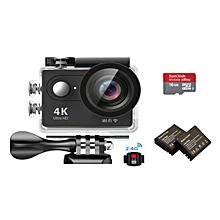 EKEN H9R 4K Action Camera Wifi Sports Cam + Remote Control Shutter + 16GB Memory Card +2 Batteries JY-M