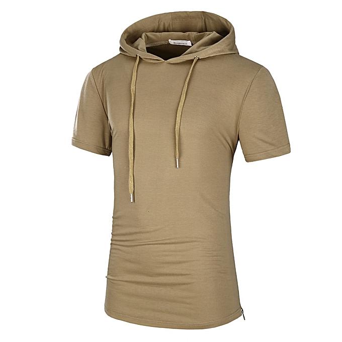 2018 short Sleeve Hoodies Fashion Hooded Sweatshirt Men Hip Hop Hoodie  Men s Rapper Vest Top camisa 9e37587c731