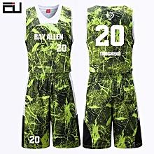 3e09f2867 New Customized Brand Men  039 s Basketball Team Sport Jersey Uniform-Green(