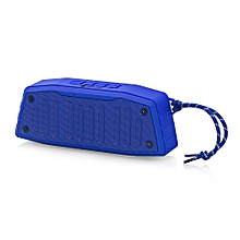 NewRixing NR - 4019 Outdoor Wireless Bluetooth Stereo Speaker Portable Player-BLUE