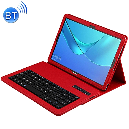 the best attitude 3048a 67f3b Detachable Bluetooth Keyboard + Litchi Texture Horizontal Flip Leather Case  for Huawei MediaPad M5 Pro / M5 10.8 inch, with Holder(Red)