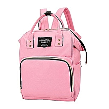 863ec5dd40e9 Xingbiaocao Mummy Bag Nappy Bottle Bag Large Capacity Baby Bag Travel  Backpack Nursing Bag -Pink