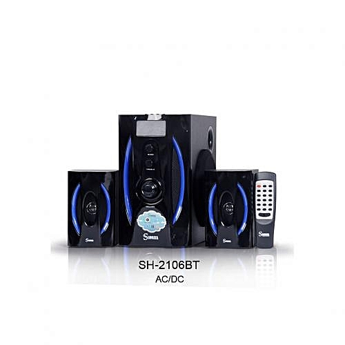 SH-2106BT 2.1 Multimedia Subwoofer With Bluetooth