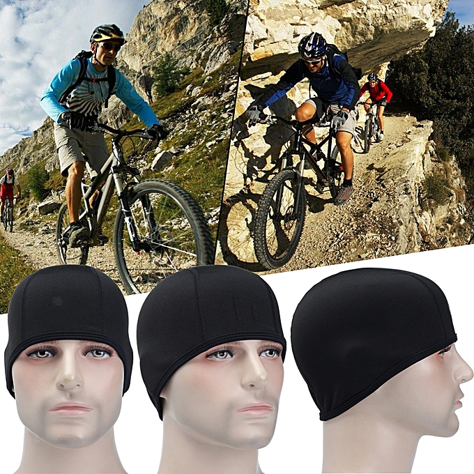 349629056bc30 ... Cycling Running Sports Outdoor Hat Men Fleece Thermal Winter Black Ear  Warm Cap ...