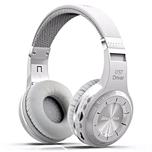 LEBAIQI Bluedio HT Bluetooth Wireless On-Ear Headphone + Mic (White)