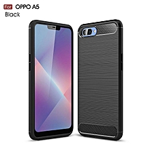 Rubber Environmental Carbon Fiber Case For Oppo A5 Case 5.5 Inch Soft Anti-Skid Cover For Oppo A3S Phone Case Covers