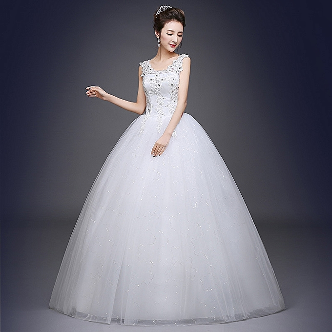 0816dbf0a9 AFankara Sleeveless Wedding Party Gowns