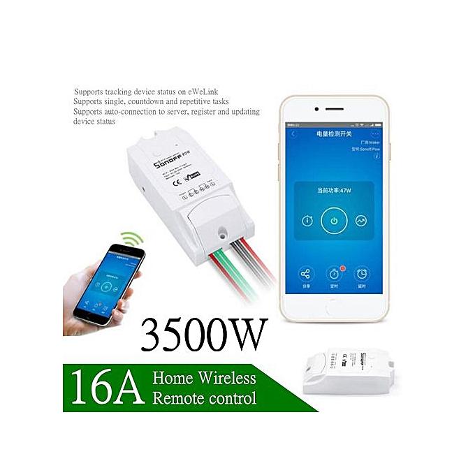 Smart Home Wireless Intelligent Control Module Switch Home WiFi Remote  Power 16A