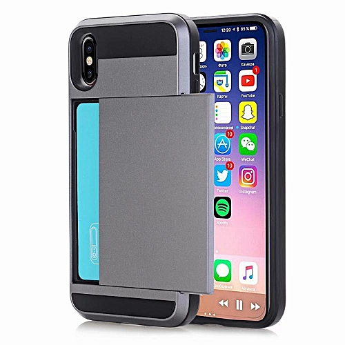 premium selection 0822f 1f559 For IPhone XS Max Case,Impact Resistant Hybrid Wallet Case Protective Shell  Shockproof Rugged Rubber Bumper Anti-scratch Hard Cover Skin Card Holder ...
