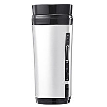 Rechargeable USB Heating Self Stirring Auto Mixing Coffee Mug Tea Cup Warmer Lid # Silver