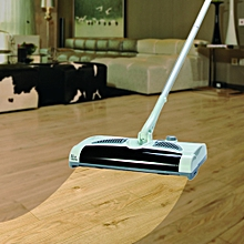 W - S018 2 in 1 Swivel Cordless Electric Robot Cleaner Drag Sweeping All-in-one Machine Automatic Mop - Milk White
