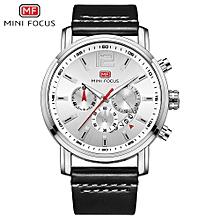 MF0086G Men Watch Quartz Leather Strap Simple Wristwatch Time Display Calendar Fashion Casual 3ATM Waterproof Luminous Hands Male Watches