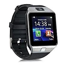 DZ09 SIM Card Smart Watch Phone with Camera - Silver Black
