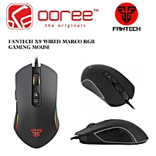 GENUINE FANTECH X9 WIRED MACRO RGB 4800DPI 7 BUTTONS GAMING MOUSE HT