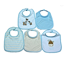 5 Pieces Washable Cotton Bibs - Giraffe