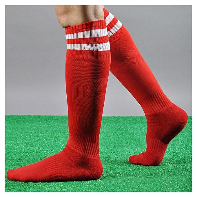 a4387a6fd45b2 Men Sport Football Soccer Long Socks Striped Socks High Sock Baseball RD