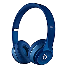 Solo2 Wired Over-Ear Headphone On-Ear Stereo Music Headset ANC Noise Reduction Earphone Blue Second-hand No Package No Accessories