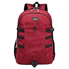 jiuhap store Unisex Backpack Large Capacity Nylon Bag Student Bag Computer Bag Travel Bag-Red