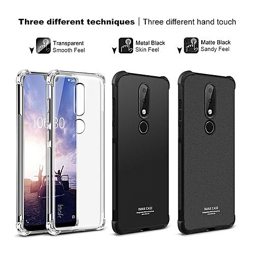 more photos 24864 383d7 Case For Nokia X6 2018 Airbag Cover Shockproof Back Cover For Nokia X6 Case  Soft Silicone + Screen Protector Film
