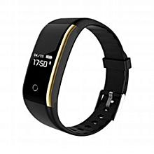 V9 Waterproof Smart Wristband Sport Heart Rate Smart Fitness Tracker Bracelet black