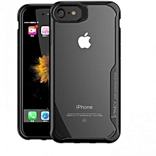 Apple iPhone 7 Cover Drop-proof PC + TPU Hybrid Phone Case - Black
