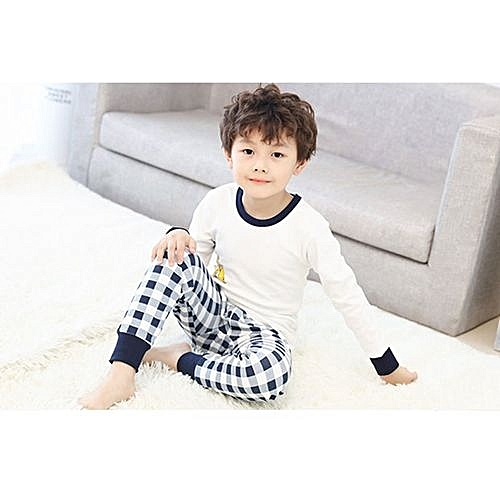 Eissely Toddler Kids Long Sleeve Cartoon Warm Pj's Tops Pants 2 Set ...