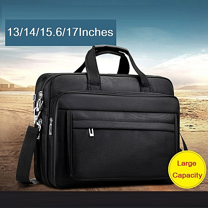 13-17 Inches high density oxford men's briefcase waterproof laptop computer  bag large capacity business shoulder bag men(14 inches)