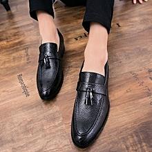2018 Men's New Short Dagger Tips Dress Small Suit Slim Fit Shoes