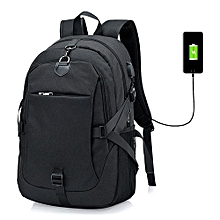 Brand-new Backpack With USB Smartphone Charging Port For Businessmen Students Travelers- Black