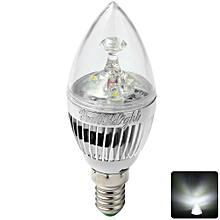 3W E14 6000K 250Lm 3 LEDs Light Energy Saving Clear Candle Bulb - Cool White