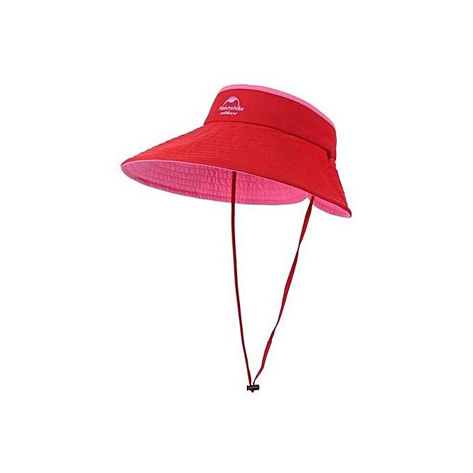 Women s Sun Hat Breathable Folding Empty Top Cap Outdoor Anti-UV Beach Hat( Red c28ad6ba0c7