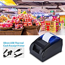 Thermal Printer 58mm USB Thermal Cash Receipt Printer 90mm/sec Support Android iOS Windows Linux UK Plug