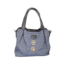 Jeans/ Leather mix handbag- Amani