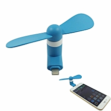 Mini Portable Cooling Fan Ventilator Electronic Gadget PC Cooler For Iphone8 7 6s 6 5s 5 Ipad Blue
