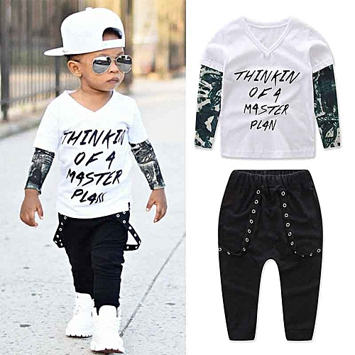 Generic Newborn Toddler Infant Baby Kids Boy Clothes T-shirt Tops+Pants  Outfits Set 092f1343936e