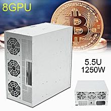 8GPU Plus Mining Rig Machine Power Supply For Bitcoin ETH Antminer 8 Card 1250W