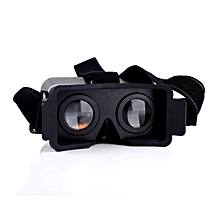 New NJ Head Mount Plastic 3D VR Virtual Reality Video Glasses For iPhone5/5S/5C Black