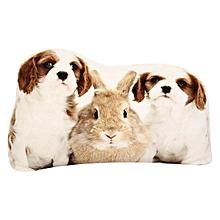 Creative 3D Cute Animal Lion Parrot Shape Throw Pillow Plush Soft Sofa Car Office Cushion Gift