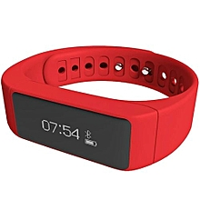 Passometer Sleep Monitor IP67 Bluetooth 4.0 Activity Tracker Smart Band  (Color:Red)