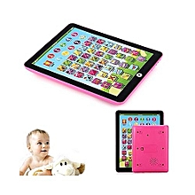 Kids Children English And Numeral Learning Toy Tablet-Pink.
