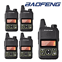 5 x BaoFeng BF T1 Mini Walkie Talkie Two-Way Radio 400-470MHz 20 channels + PTT Earpieces